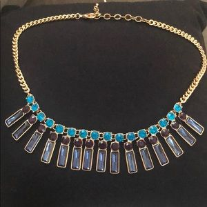 Blue, Teal, and Purple Gem Necklace